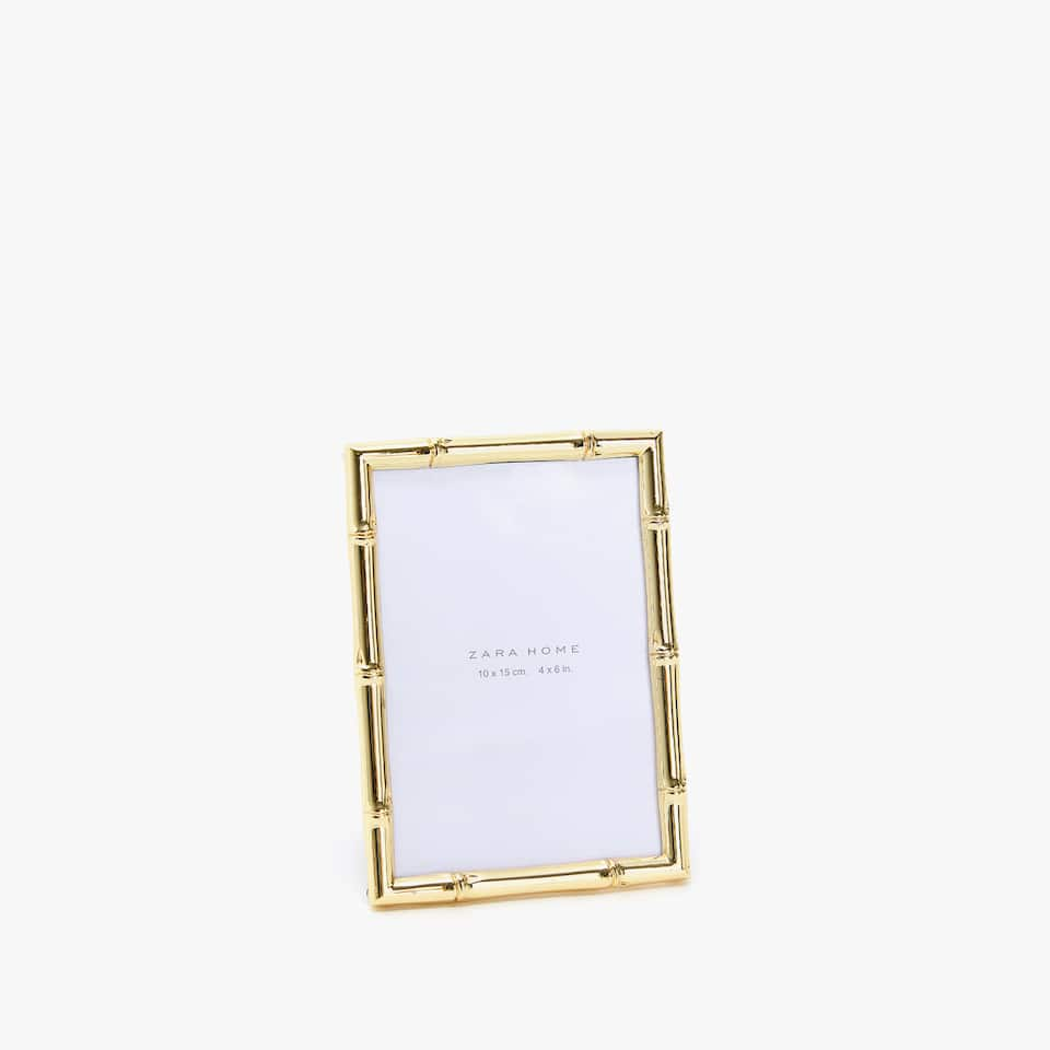 BAMBOO METAL PHOTO FRAME