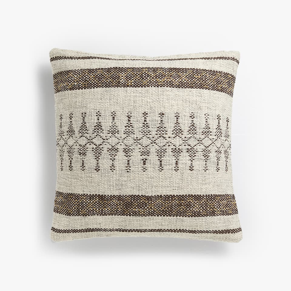 RUSTIC-STYLE CUSHION COVER