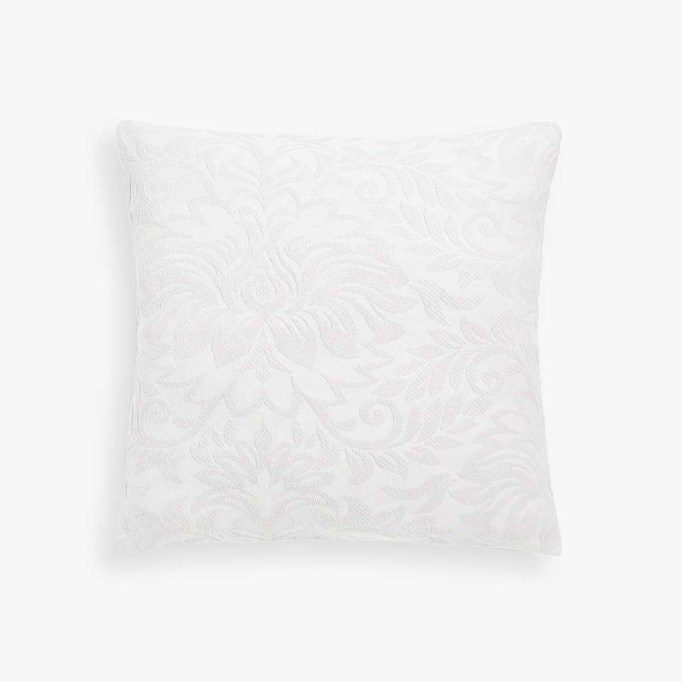 CUSHION COVER WITH RAISED DAMASK DESIGN