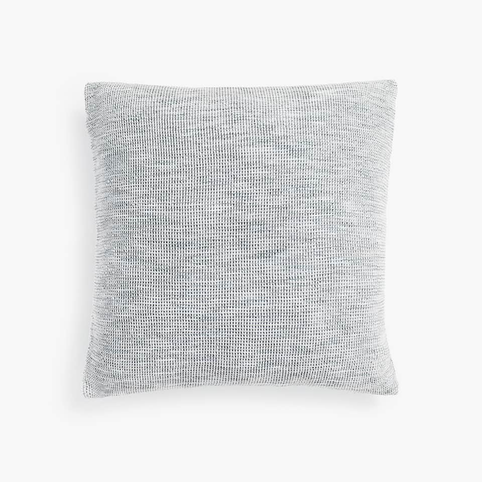 COTTON CUSHION COVER WITH RAISED MINI WAFFLE PATTERN