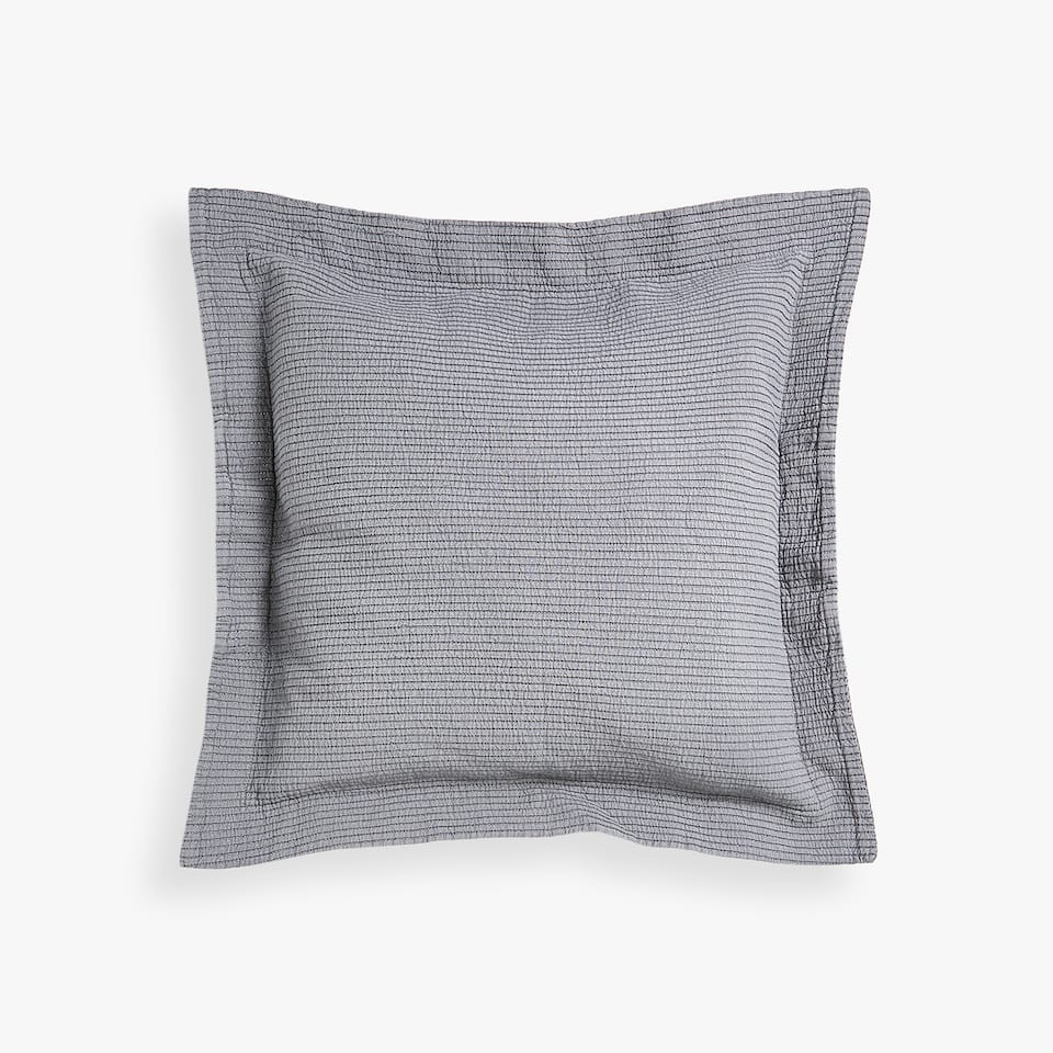 CUSHION COVER WITH SHIMMER THREAD STRIPES