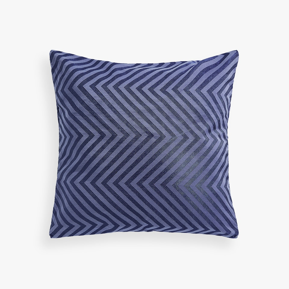 HERRINGBONE FABRIC CUSHION COVER
