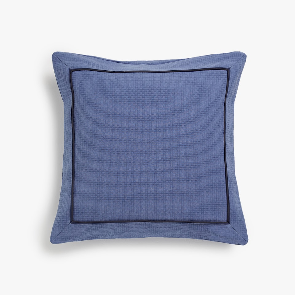 COTTON CUSHION COVER WITH PIPED TRIM