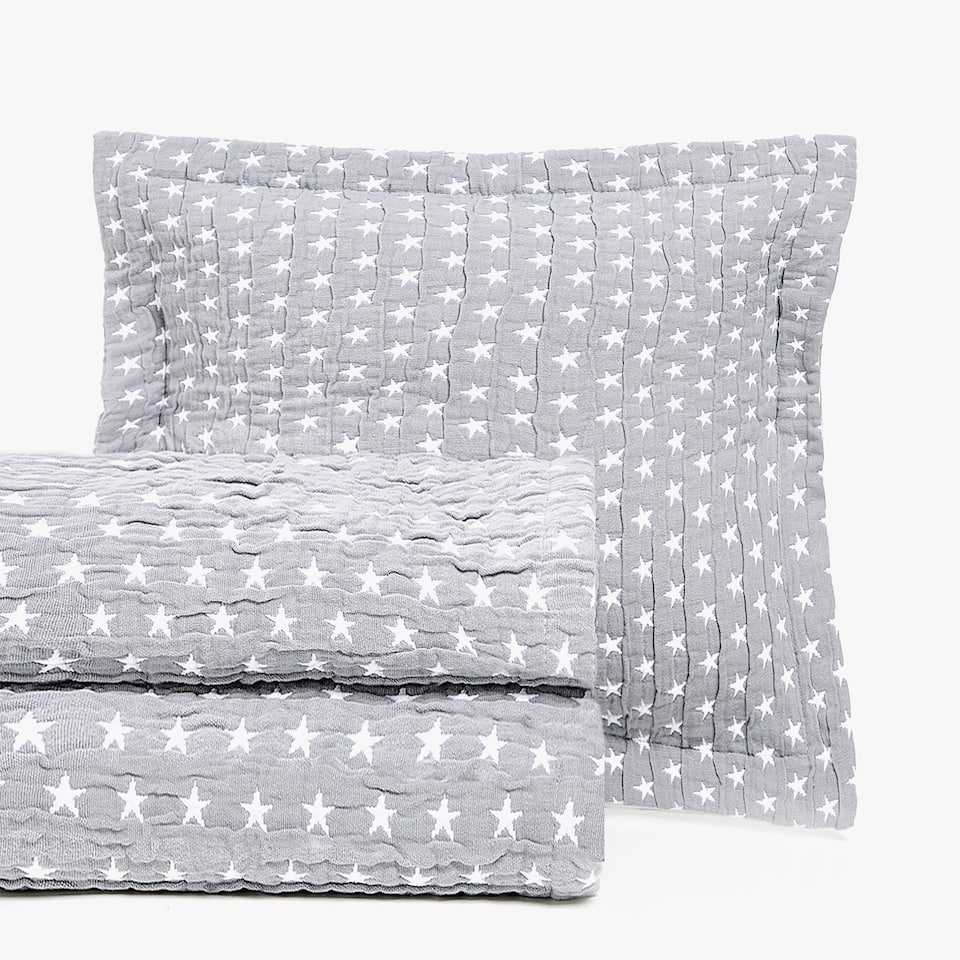 CONTRASTING STARS COTTON BEDSPREAD
