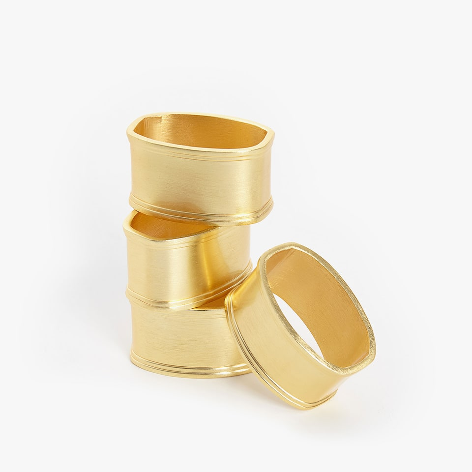 MATTE GOLDEN NAPKIN RING (PACK OF 4)