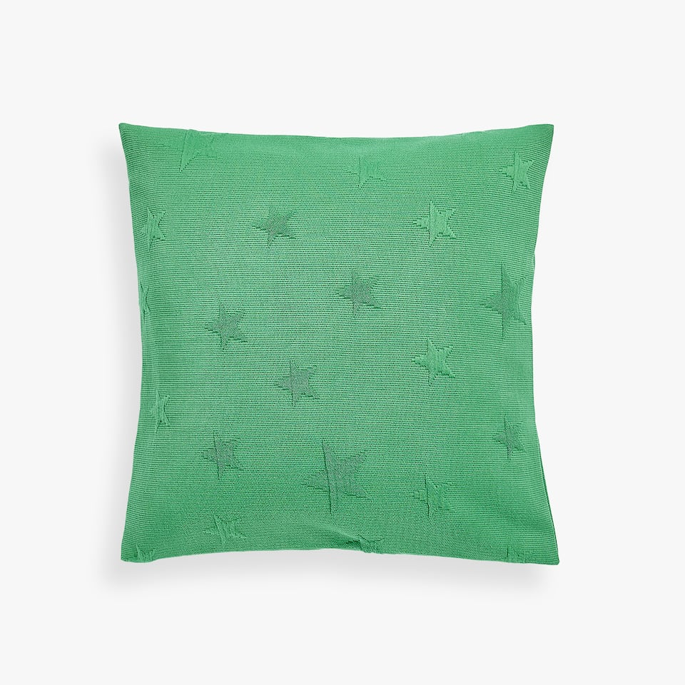 COTTON CUSHION COVER WITH RAISED STAR DESIGN
