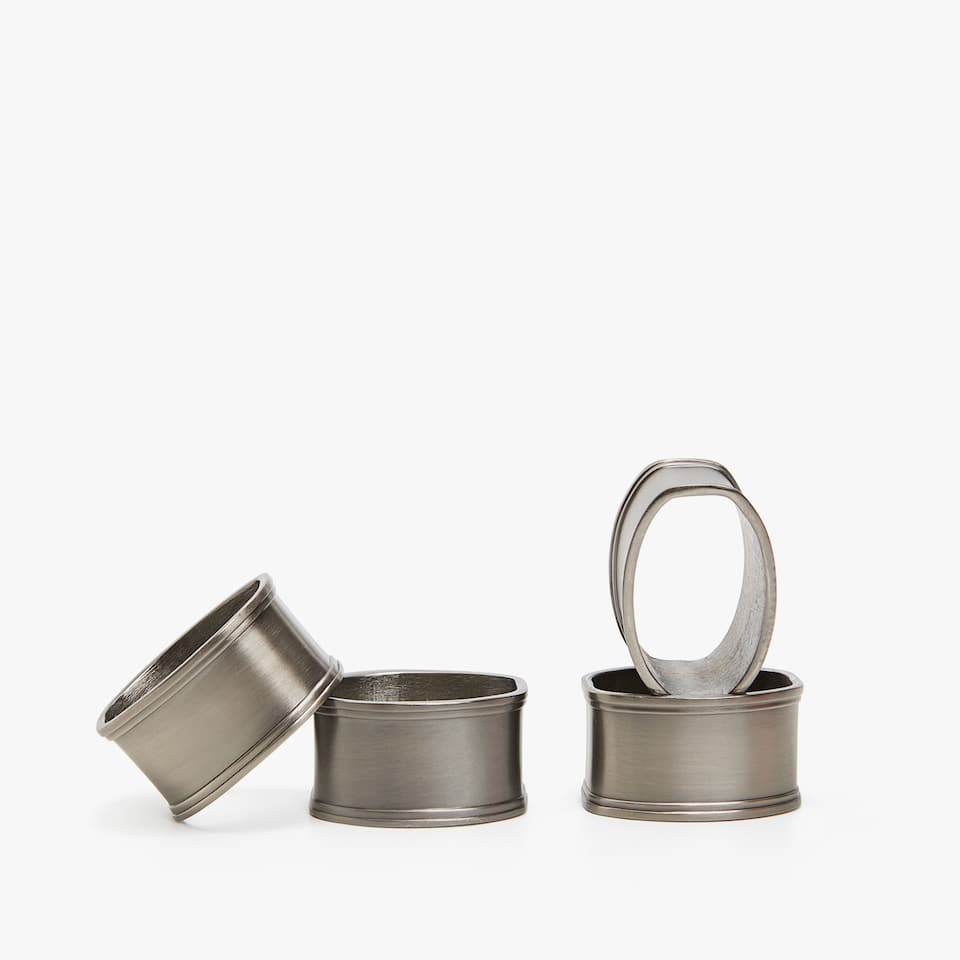 METAL NAPKIN RING (SET OF 4)