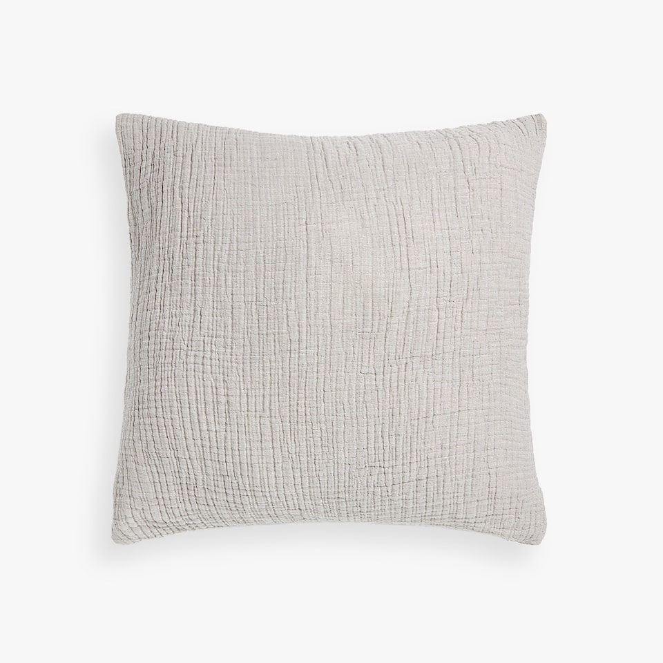 REVERSIBLE FLOWING COTTON CUSHION COVER
