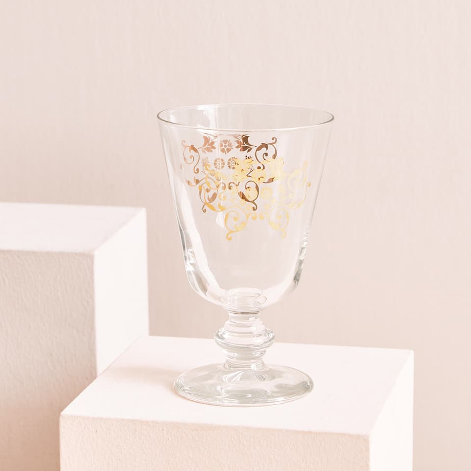 Golden transfer glass