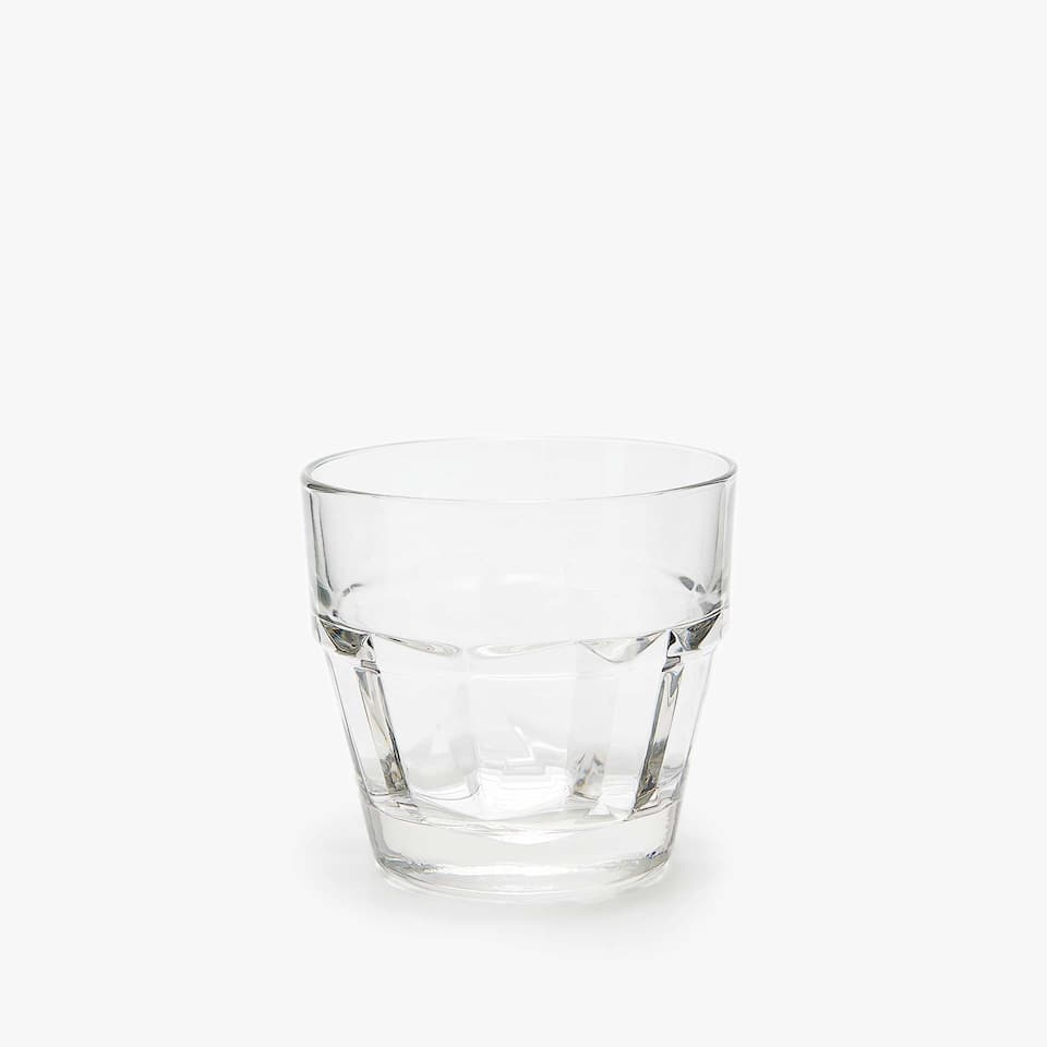 FACETED GLASS TUMBLER