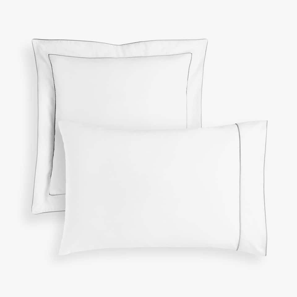 PILLOWCASE WITH GREY PIPING