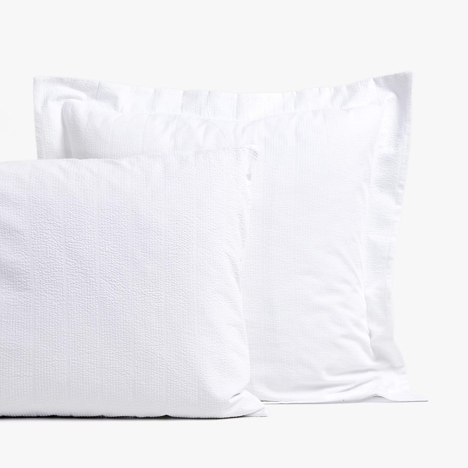 WHITE SEERSUCKER PILLOWCASE