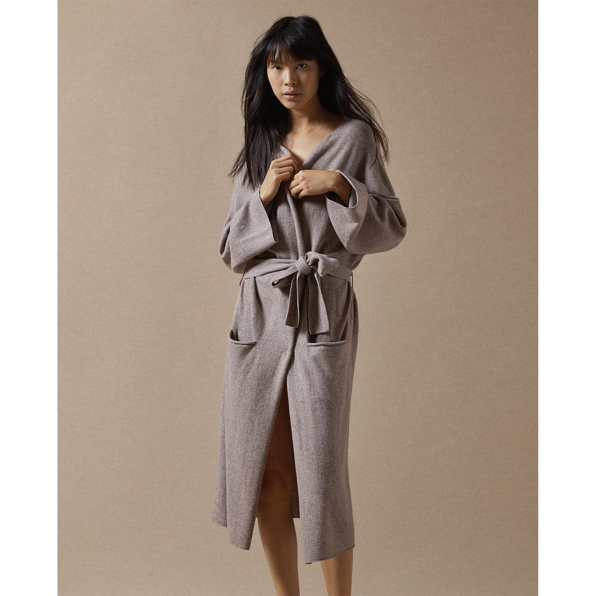 WOOL AND CASHMERE DRESSING GOWN - DRESSING GOWNS - WOMEN\'S ...