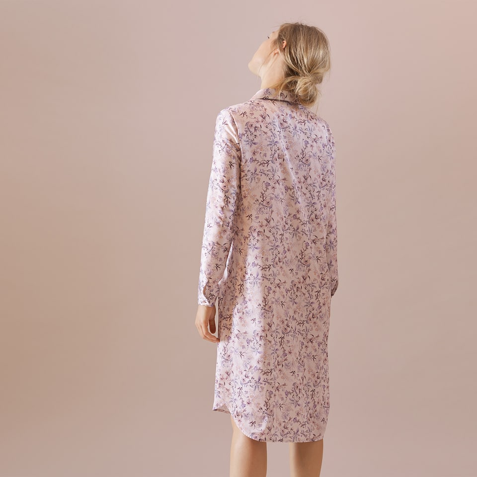 MULTI-FLORAL SATIN TUNIC