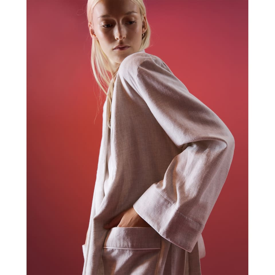 FLANNEL DRESSING GOWN
