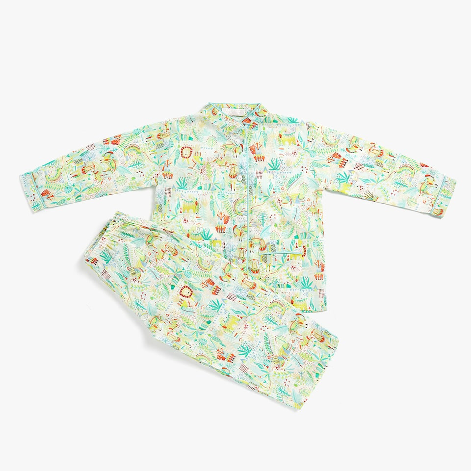 SET OF JUNGLE PRINT PYJAMAS