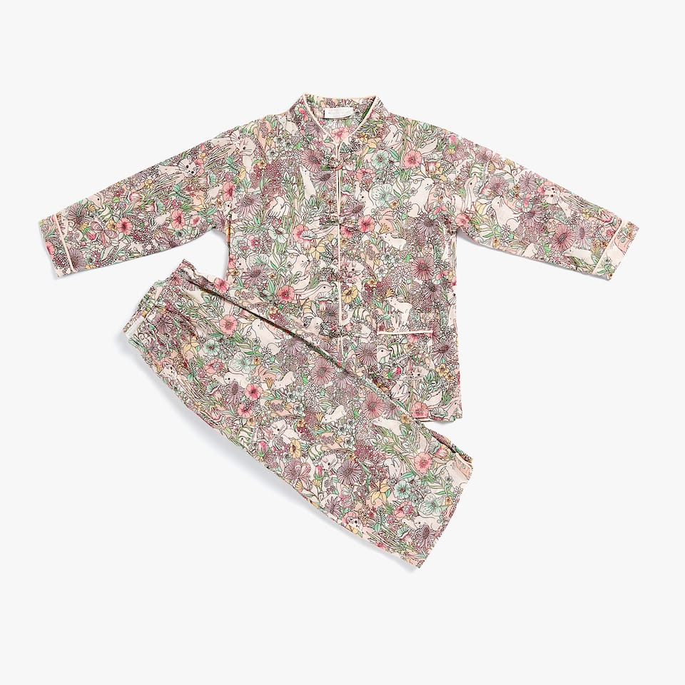 SET OF WILD PRINT PYJAMAS