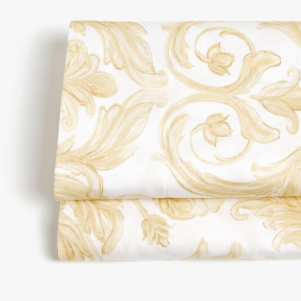 Decorative print sateen top sheet