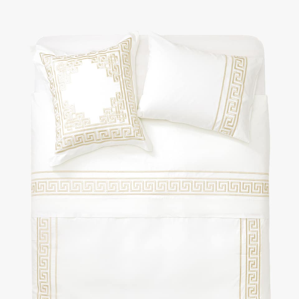 Embroidered duvet cover