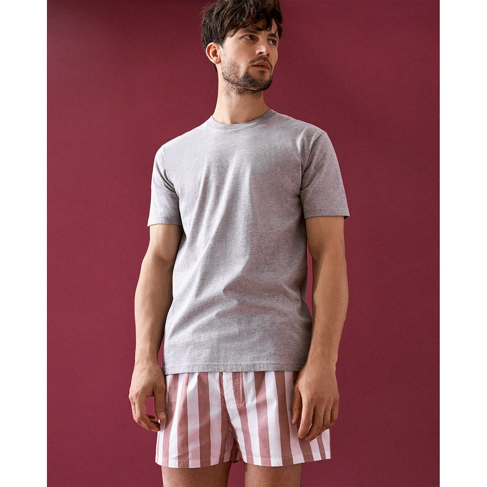 STRIPED COTTON PYJAMAS