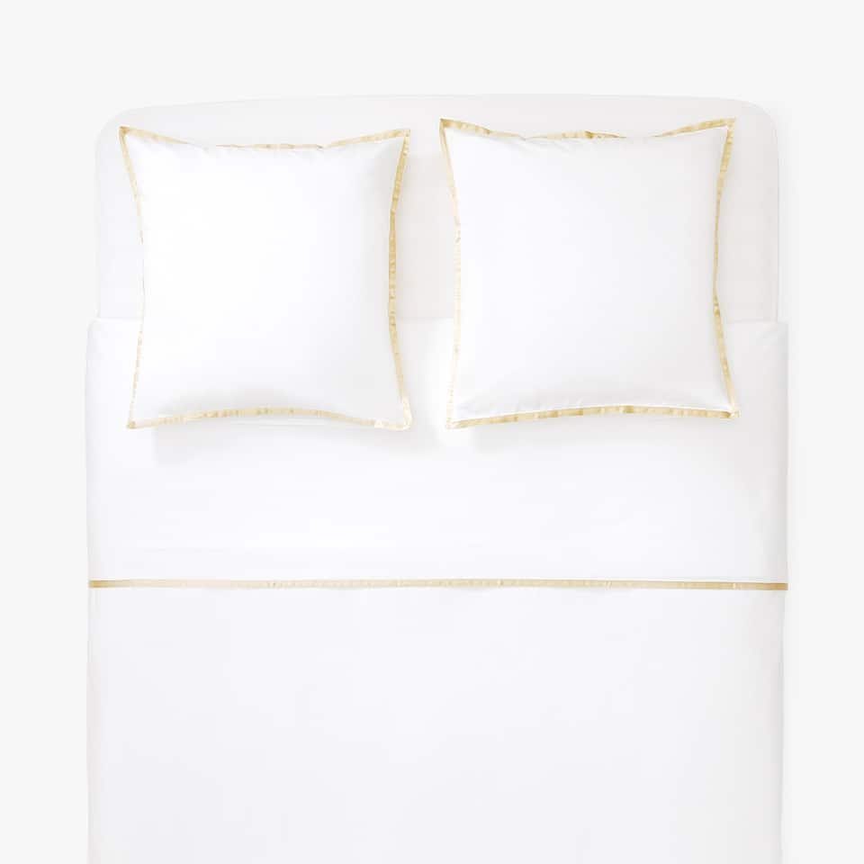Sateen duvet cover with border