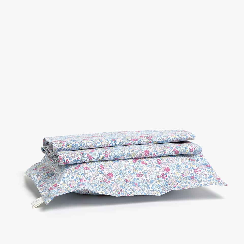 Floral print sheet set for Moses basket and mini cot