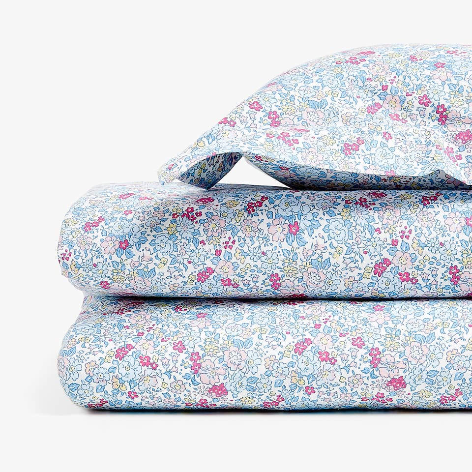 Floral print duvet cover set for cot and mini cot