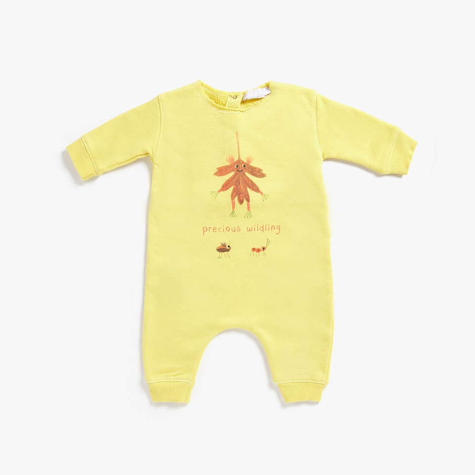 LEAVES PRINT ROMPER SUIT