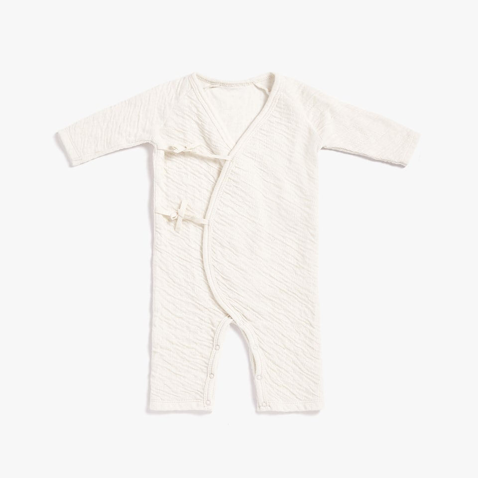COTTON ROMPER SUIT WITH BOWS