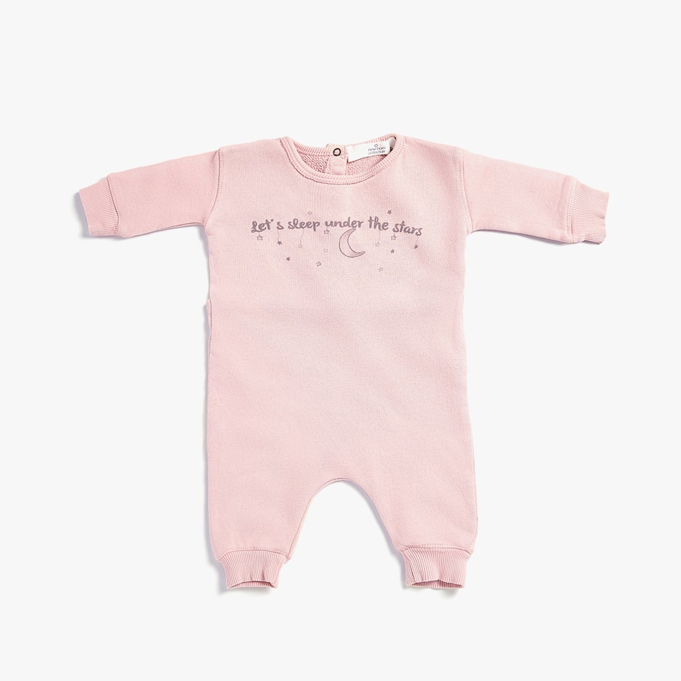 ECOLOGICALLY GROWN COTTON ROMPER SUIT