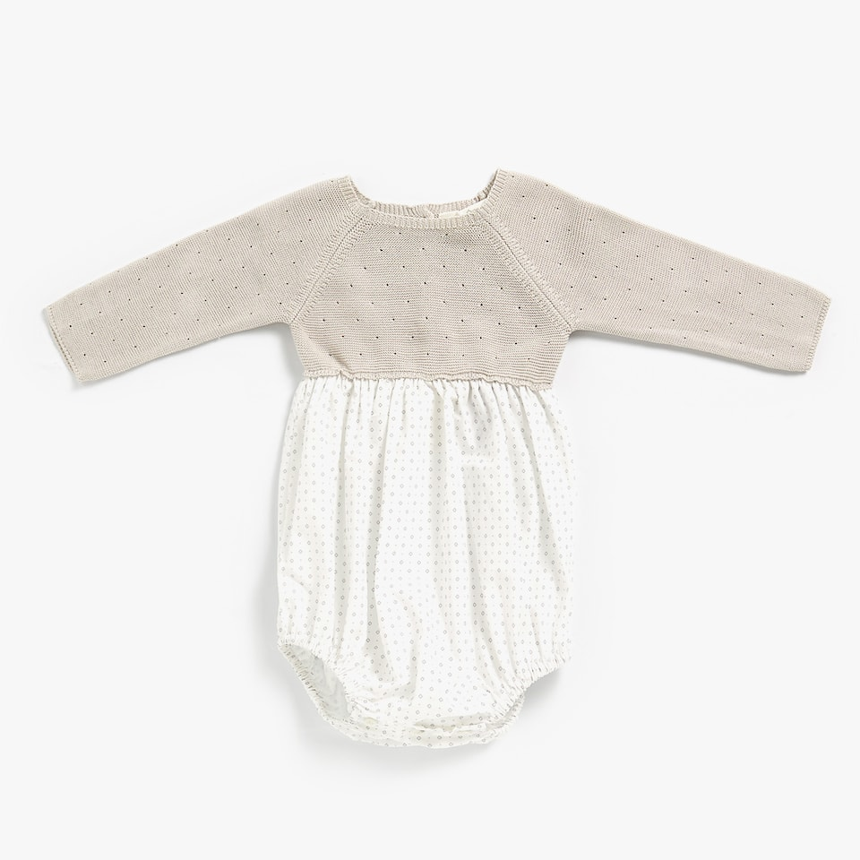 PURL KNIT ROMPER SUIT