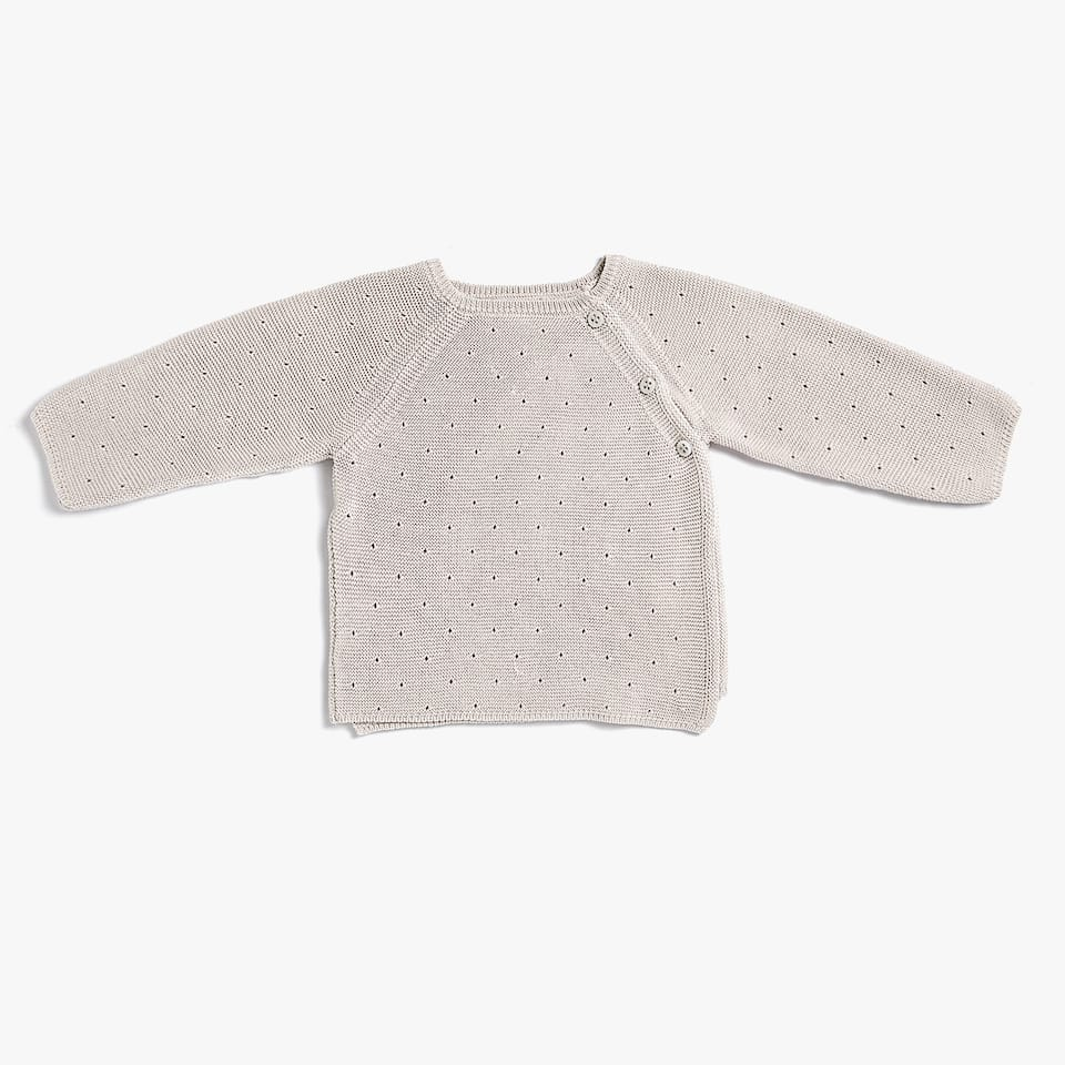 PURL KNIT COTTON SWEATER
