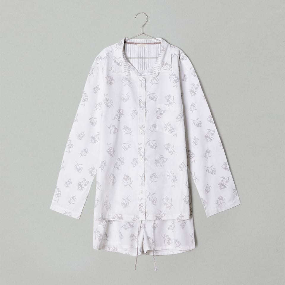 FLORAL PRINT COTTON PYJAMA SET