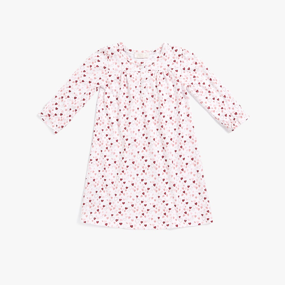 COTTON JERSEY HEARTS NIGHTDRESS