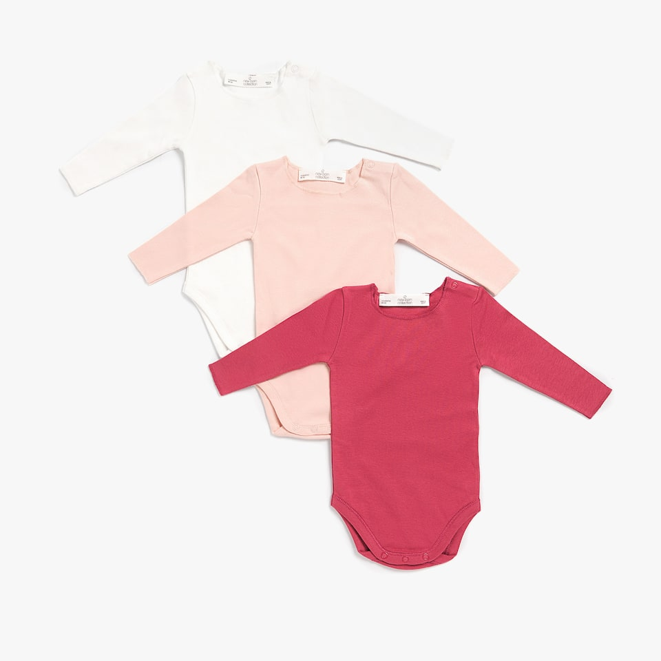 PLAIN COTTON BODYSUIT (SET OF 3)