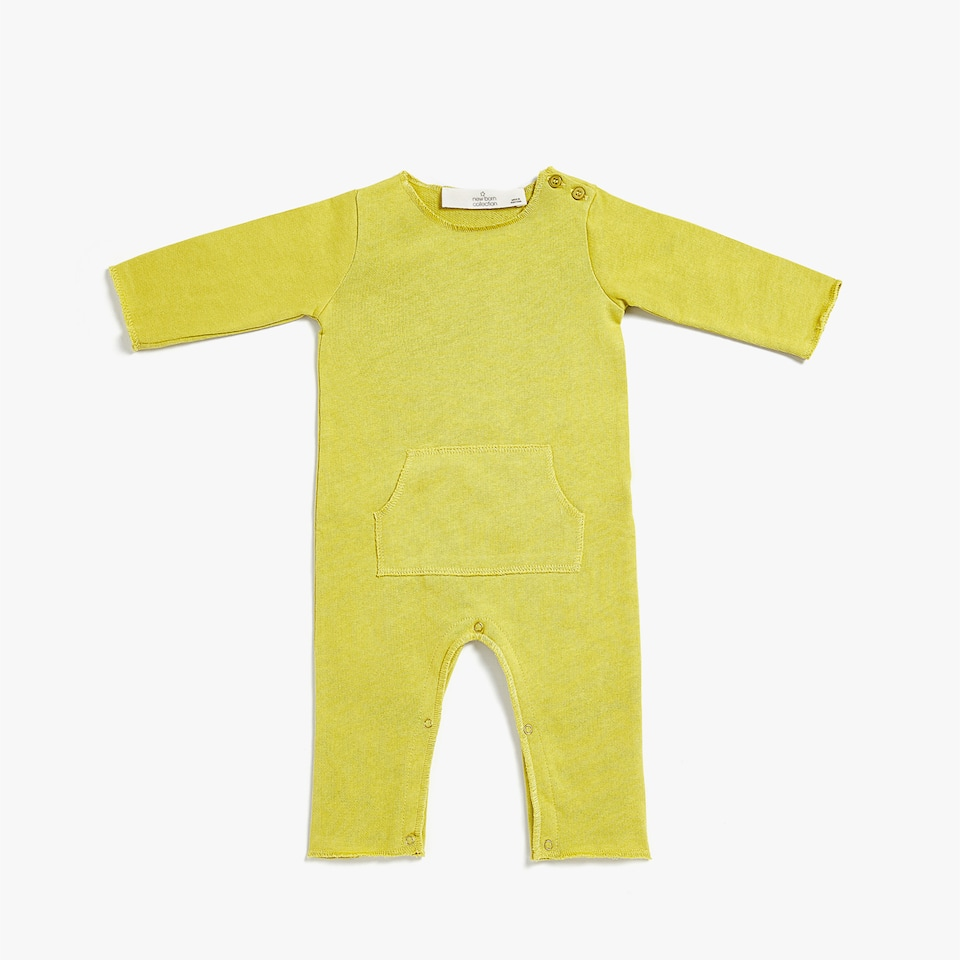 PLUSH ROMPER SUIT WITH POCKET