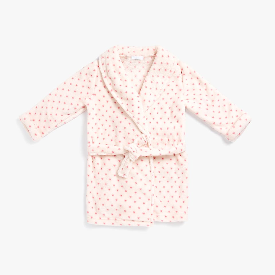 FLEECE POLKA DOT DRESSING GOWN