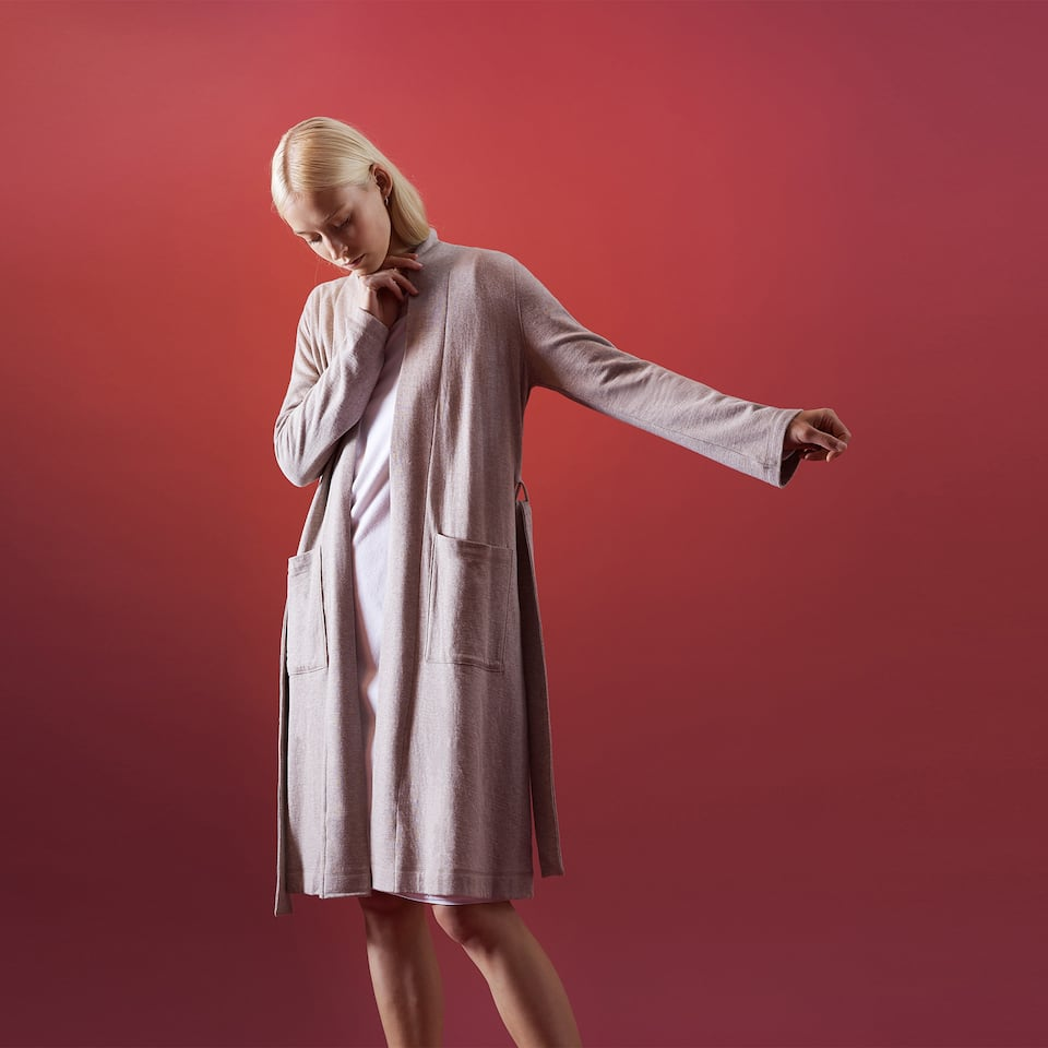 MELANGE COTTON ROBE