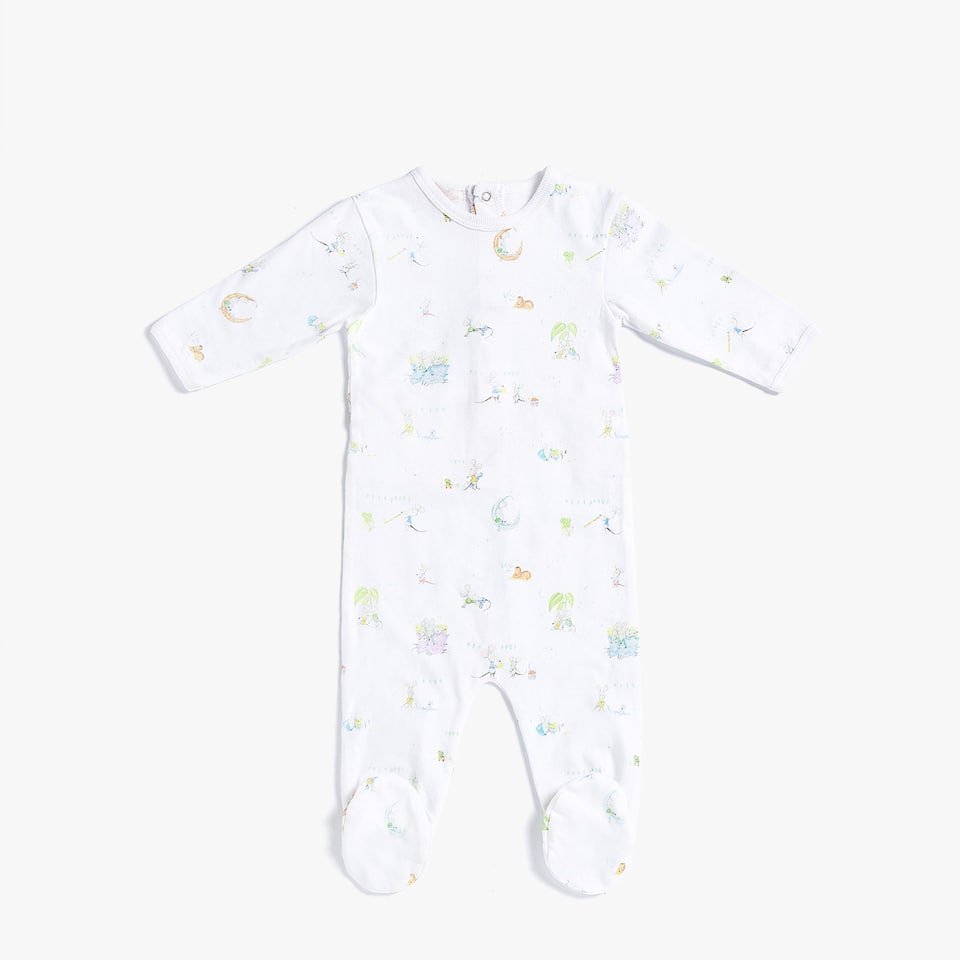 COTTON JERSEY MOUSE PRINT ROMPER SUIT