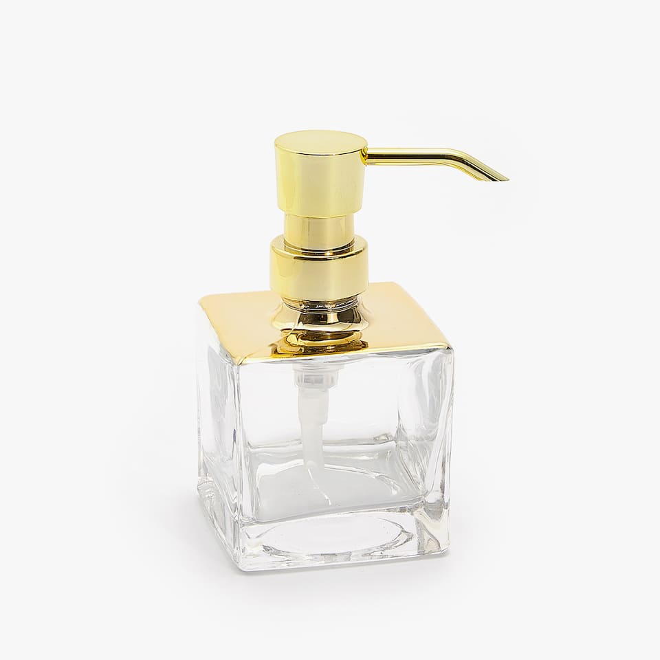 Glass Dispenser With A Gold Detail