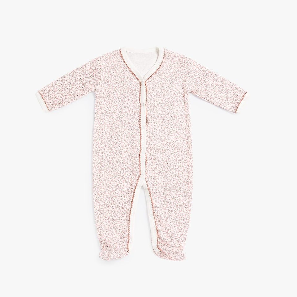 PRINTED COTTON JERSEY ROMPER SUIT