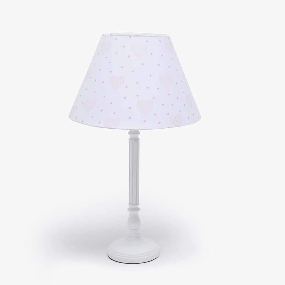 White floor lamp with shade