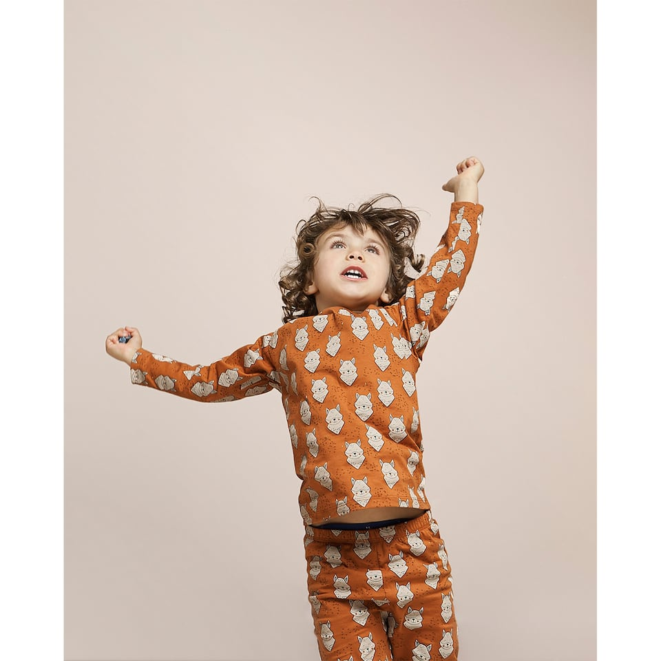 SET OF FOX PRINT PYJAMAS