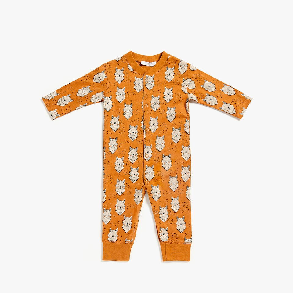 FOX PRINT ROMPER SUIT