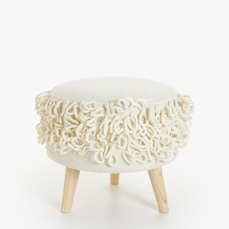 ROUND WOOLLEN LOOP STOOL
