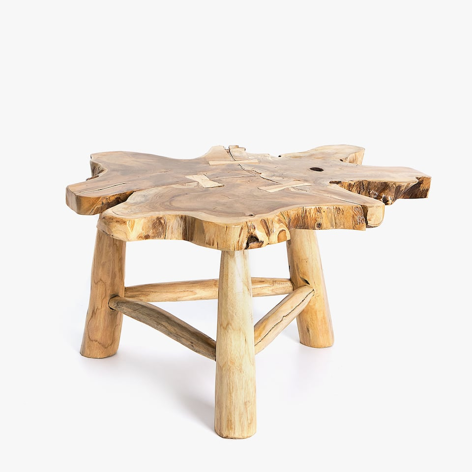 IRREGULAR TEAK WOOD STOOL