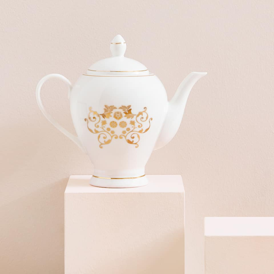 Gold transfer teapot
