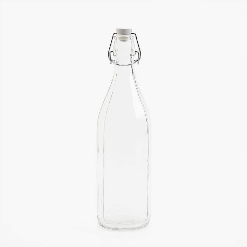GLASS BOTTLE WITH STOPPER