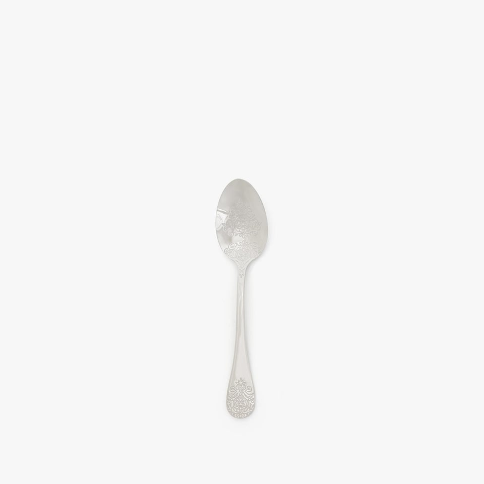 ENGRAVED STEEL TEASPOON