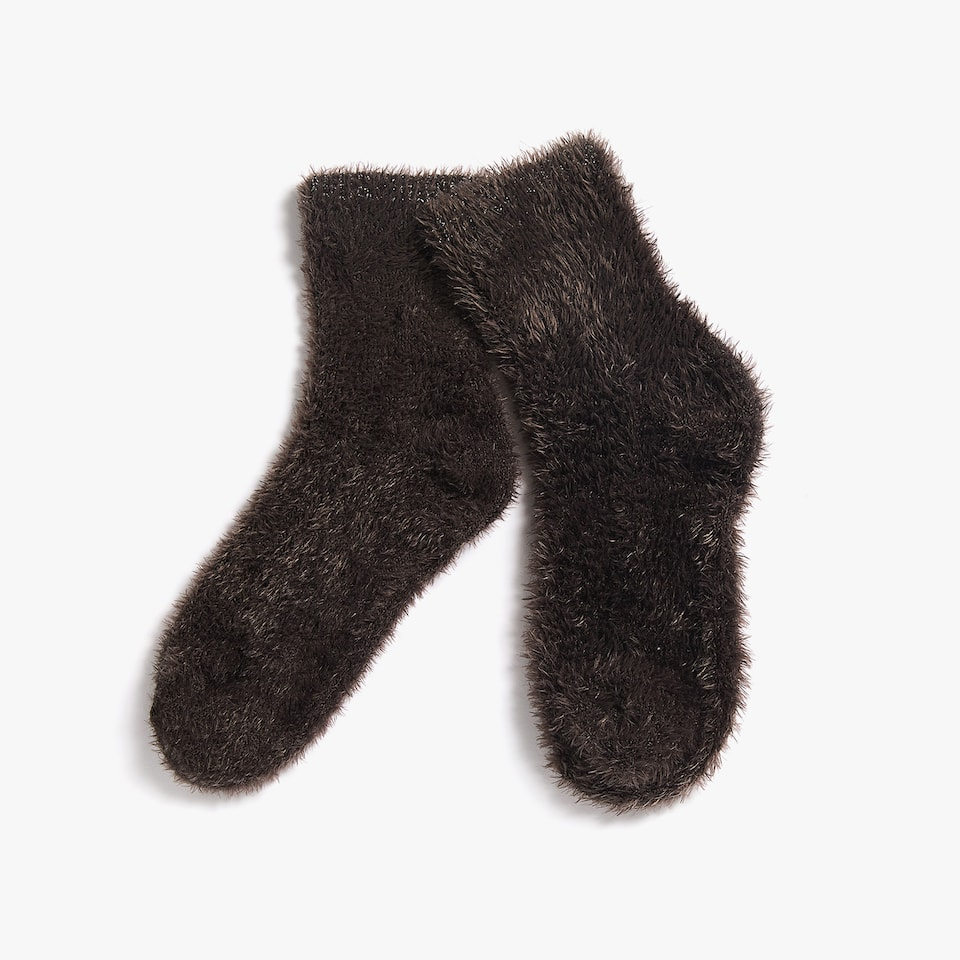 FAUX FUR SOCKS